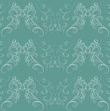 Naadloos patroon in Barokke stijl op groen. Royalty-vrije Stock Afbeelding