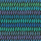Naadloos patroon in blauwe kleuren Stock Afbeeldingen
