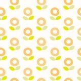 Naadloos patroon Bloem Stock Afbeeldingen