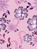 Naadloos patroon bloemen Stock Afbeelding