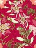 Naadloos patroon bloemen Royalty-vrije Stock Afbeeldingen