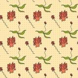 Naadloos patroon - bloemen Royalty-vrije Stock Afbeelding