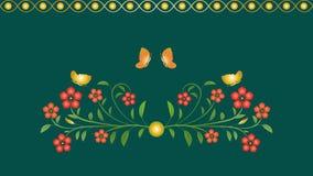 Naadloos patroon bloemen, vlinderornament Royalty-vrije Stock Fotografie