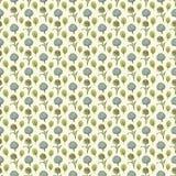 Naadloos patroon bloemendocument behang Stock Fotografie