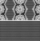 Naadloos patroon - bloemenkantornament Stock Foto's