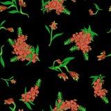 Naadloos patroon in Chamerion-angustifolium wilde bloemen Gevoelige boeketten Millefleurs van de vrijheidsstijl bloemen stock illustratie