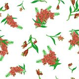 Naadloos patroon in Chamerion-angustifolium wilde bloemen Gevoelige boeketten Millefleurs van de vrijheidsstijl bloemen royalty-vrije illustratie