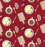 Naadloos patroon concept de lunch Royalty-vrije Stock Foto