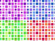 Naadloos patroon dat uit vierkante blokken wordt samengesteld Royalty-vrije Stock Foto