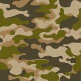 Naadloos patroon De abstracte achtergrond van de militaire of de jachtcamouflage Bruine, groene kleur Vector illustratie herhaald Royalty-vrije Stock Afbeelding