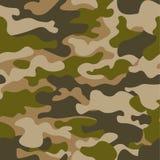 Naadloos patroon De abstracte achtergrond van de militaire of de jachtcamouflage Bruine, groene kleur Vector illustratie herhaald Royalty-vrije Stock Afbeeldingen