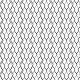 Naadloos patroon - de Abstracte lineaire achtergrond van de krabbelgolf Stock Afbeelding