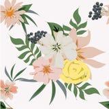 Naadloos patroon De achtergrond van de bloem Stock Foto