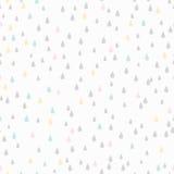 Naadloos patroon De daling van de regen Stock Foto