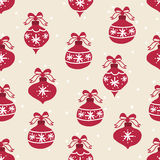 Naadloos patroon De eenvoudige Bal van Kerstmis Royalty-vrije Stock Foto's