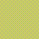 Naadloos patroon - de geel-blauwe cirkels van de kleurenpastelkleur op een donkergrijze achtergrond EPS Vectordossier vector illustratie