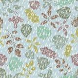 Naadloos patroon De herfstbladeren en berryes Royalty-vrije Stock Foto's