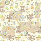 Naadloos patroon - de Leuke punten van de babyjongen Stock Foto's