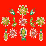 Naadloos patroon in de stijl van boho Royalty-vrije Stock Foto
