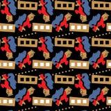 Naadloos patroon in de stijl van de Jugendstil stock illustratie