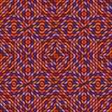 Naadloos patroon in de traditionele kleuren van Halloween met caleidoscoop geometrisch ornament De achtergrond van het gebrandsch Stock Fotografie