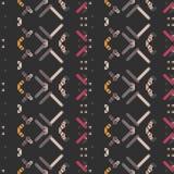 Naadloos patroon - decoratief borduurwerk met geometrische tekening stock illustratie