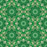 Naadloos patroon Decoratief patroon in mooie beige en smaragdgroene kleuren Vector illustratie Royalty-vrije Stock Foto's