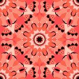 Naadloos patroon Decoratief patroon in mooie zalm en zwarte kleuren Vector illustratie Royalty-vrije Stock Foto's