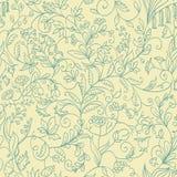 Naadloos patroon die van elkaar verschillende bloemen kweken stock illustratie