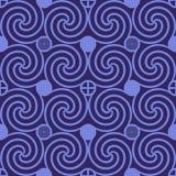 Naadloos Patroon Donkere Violet Swirl vector illustratie