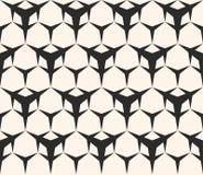 Naadloos patroon, driehoekige vormen, hexagonaal geometrisch rooster Stock Afbeeldingen