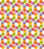 Naadloos patroon Druk van Handen Royalty-vrije Stock Afbeeldingen