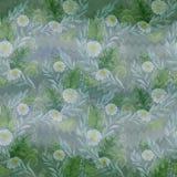 Naadloos patroon Een boeket van madeliefje bloeit - bloemen, bladeren op waterverfachtergrond royalty-vrije illustratie