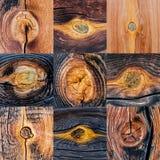 Naadloos patroon Een houten textuur met takjes Royalty-vrije Stock Fotografie