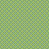 Naadloos patroon - gekleurd pastelkleur groen-geel en blauwe cirkels op een donkerblauwe achtergrond EPS Vectordossier stock illustratie
