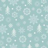 Naadloos Patroon, gestileerde sneeuwvlokken royalty-vrije stock fotografie