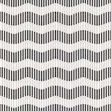 Naadloos patroon - gestreepte golven Stock Afbeeldingen