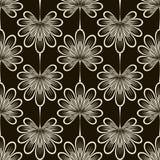 Naadloos patroon grafisch ornament Bloemen modieuze achtergrond Re Royalty-vrije Stock Afbeeldingen