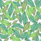 Naadloos patroon Groene bladillustratie royalty-vrije stock fotografie