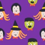 Naadloos patroon Halloween Royalty-vrije Stock Afbeeldingen