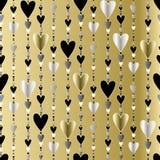 Naadloos patroon Harten gestreepte achtergrond Royalty-vrije Stock Afbeelding
