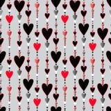 Naadloos patroon Harten gestreepte achtergrond Royalty-vrije Stock Afbeeldingen
