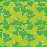 Naadloos patroon - hartenvormen, groene camouflage voor stoffen, behang, tafelkleden, drukken en ontwerpen Het EPS dossier vector illustratie