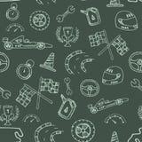 Naadloos patroon het rennen element in een tekeningsstijl Stock Fotografie