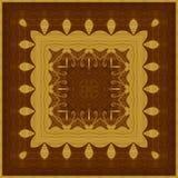 Naadloos patroon, houten inlegwerk Royalty-vrije Stock Afbeelding