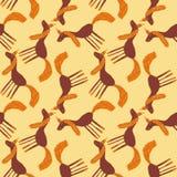 Naadloos patroon Illustratie van een kleurrijke leuke eenhoorn Stock Afbeelding