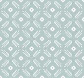 Naadloos patroon in klassieke Engelse stijl Bladeren en bloemen klassiek patroon voor druk op behang, giftdocument stock illustratie