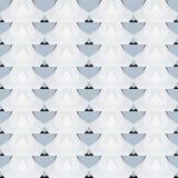 Naadloos patroon in koude tonen Royalty-vrije Stock Fotografie