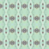 Naadloos patroon in koude tonen Royalty-vrije Stock Foto's