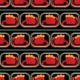 Naadloos patroon - Leuke dinosaurussen Stock Fotografie